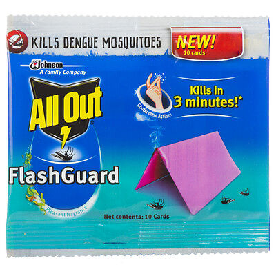ALL OUT FLASHGUARD Mosquito Repellant Fast Cards for Instant Action 50 Cards