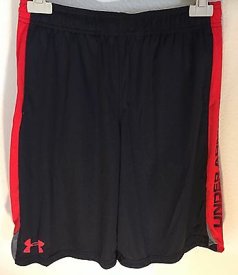 Under Armour Boys Eliminator Shorts Black & Red Style 1253851