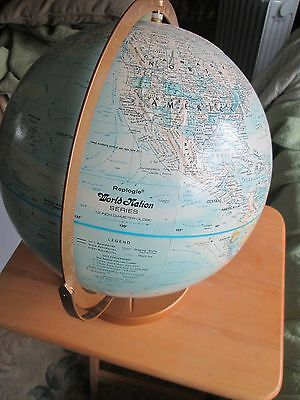 Awesome Replogle World Nation Series Double Axis 12 Inch Globe On Metal Base