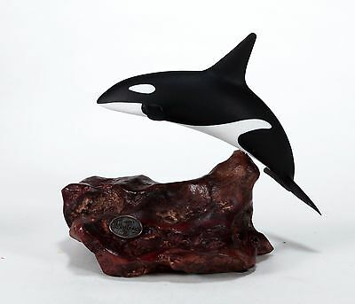 ORCA KILLER WHALE Sculpture New direct from JOHN PERRY 7in long Statue Decor