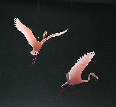 Flamingo Pair Mobile Figurine New Direct from John Perry 8in Wingspan Statue