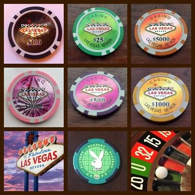 Las Vegas Casino Poker Chip Golf Ball Marker Card Guard Cake Decoration  NEW