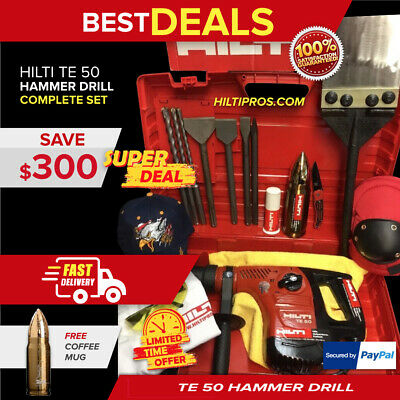 Hilti Te 50, Preowned, Free Thermo Bottle, Chisels, A Lot Of Extras, Quick Ship