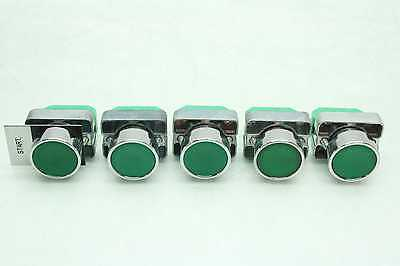 5 Automation Direct GCX1102 Green Push Button Momentary Switches NO Contacts