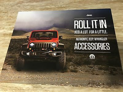 2015 Jeep WRANGLER 2-page Accessories Teaser Original Sales Brochure