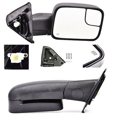 For 02-08 Dodge Ram 1500/03-09 Ram 2500 3500 Power Heated Towing Mirrors Pair