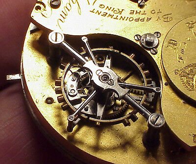 Vintage 48mm Charles Frodsham Tourbillon 09990 Fusee Pocket Watch Movement Parts