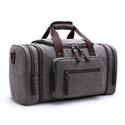 New Vintage Men Canvas Luggage Duffle Bag Gym Handbag Travel tote Bag  Overnight