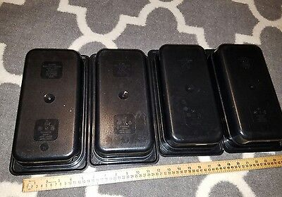 "Lot of 10 black CAMBRO 32CW  HOT & COLD FOOD PANS, 1/3 SIZE 2.5"" DEEP 2.5 QT"