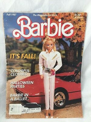 Vintage Fall 1987 Barbie MAGAZINE For Girls Volume 4 Number 4