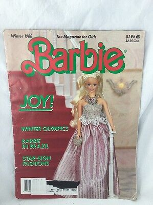 Vintage Winter 1988 Barbie MAGAZINE For Girls Volume 5 Number 1