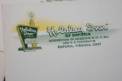 Vintage Holiday Inn Stationery Emporia Virginia Envelope Paper