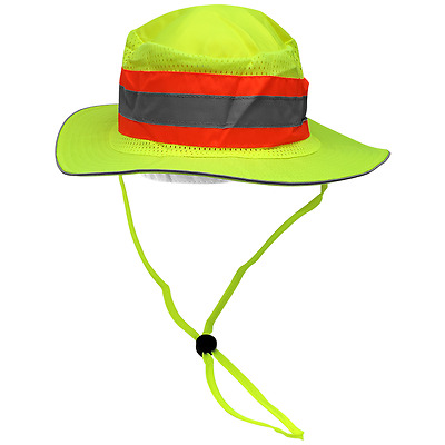 Hi Visibility ranger style hat w/reflective striping, GLO-H2, Boonie Hat