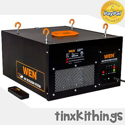 Wood Work Shop Air Filter System Remote Control Ceiling Mount Dust Collector New