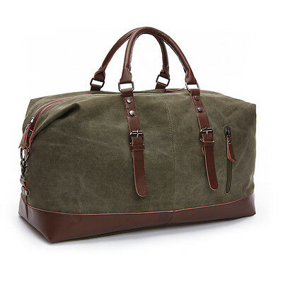 New Large Canvas Leather Men Travel Bag Luggage Bags Men Duffel Bags Travel Tote