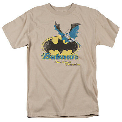 Batman CAPED CRUSADER RETRO Vintage Style Adult T-Shirt All Sizes