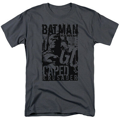 Batman CAPED CRUSADER Gotham City Licensed Adult T-Shirt All Sizes