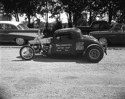 "'34 Ford Coupe Gasser RT 30 Dragstrip Drag Racing 8""x 10"" Poster Photo 44d"