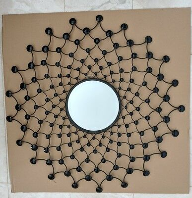 Metal hanging wall art w black crystal beads - modern home decor RRP $139.95 NEW