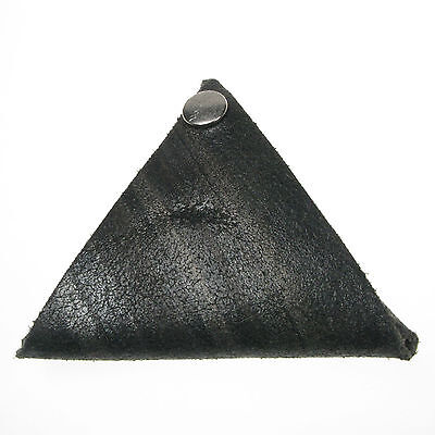 Black Multi 100% Real Leather Triangle Coin Purse Money Holder Made In England