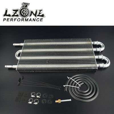 Universal Aluminum Remote Transmission Oil Cooler Auto-Manual Radiator Converter
