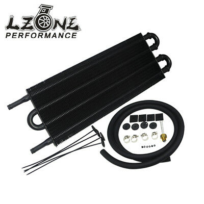 Universal Remote Transmission Oil Cooler/Auto-Manual Radiator Converter Black
