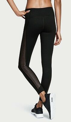 Nwt Victoria's Secret Sport Vsx Black Sheer Stripe Knockout Tight Yoga Leggings