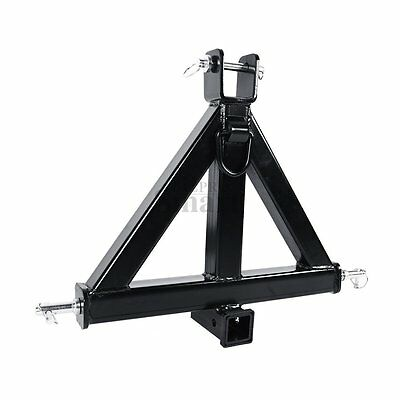 "HD 3 Point 2"" Receiver Trailer Hitch Category 1Tractor Tow Drawbar Pull"