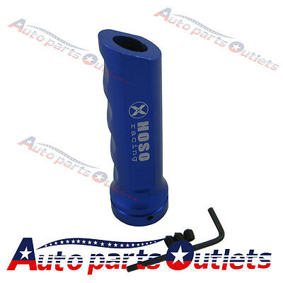 Blue Racing  Car Aluminum Hand Brake Sleeve Handbrake Handle Hand Protect Cover