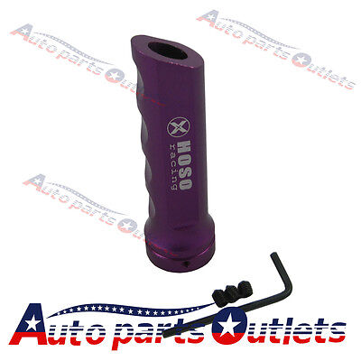 Purple Racing Car Aluminum Hand Brake Sleeve Handbrake Handle Hand Protect Cover