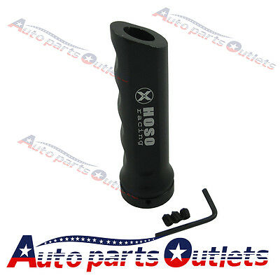 Black Racing Car Aluminum Hand Brake Sleeve Handbrake Handle Hand Protect Cover