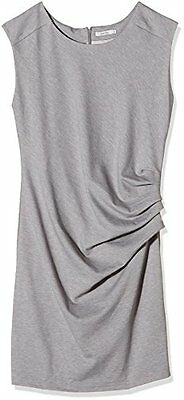 Grau (Grey melange 50015) (TG. 42) Kaffe India Slim Dress, Vestito Donna, Grau (