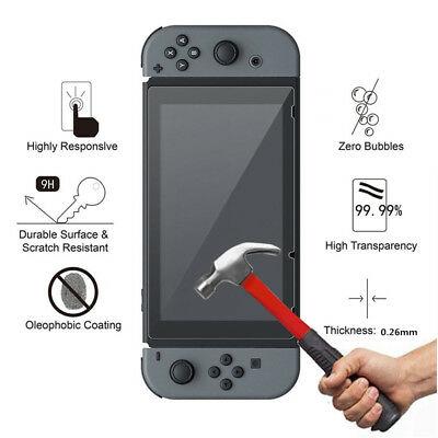 9H Premium Clear Tempered Glass Film Screen Protector Cover For Nintendo Switch