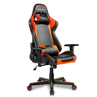 Merax High Back Racing Gaming Chair PU Leather Executive Recliner Office Chair