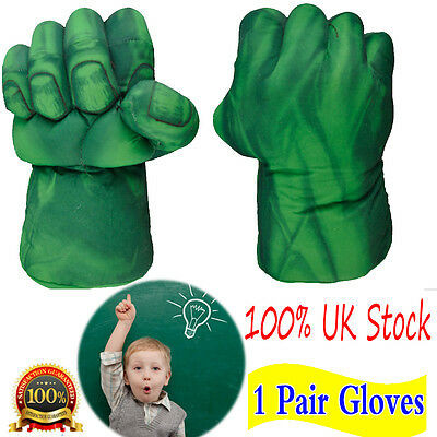 Pair of Incredible Hulk Smash Hands Plush Punching Boxing Fist Gloves Cosplay
