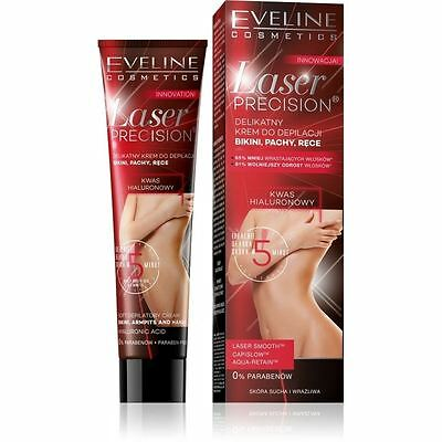 Eveline Laser Precision 5 Minute Hair Removal Cream Underarms Bikini Hands 125ml