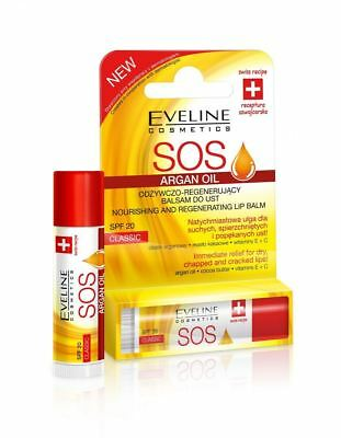 Eveline SOS Argan Oil Nourishing and Regenerating Lip Balm SPF 10