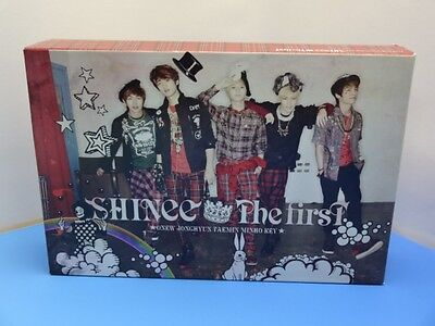 SHINee THE FIRST SPECIAL Limited CD+DVD BOX Badge + USB K-POP