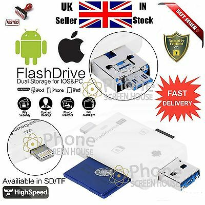 5 in 1 USB Drive Micro SD TF Memory Card Reader Adapter For iPhone iPad Android