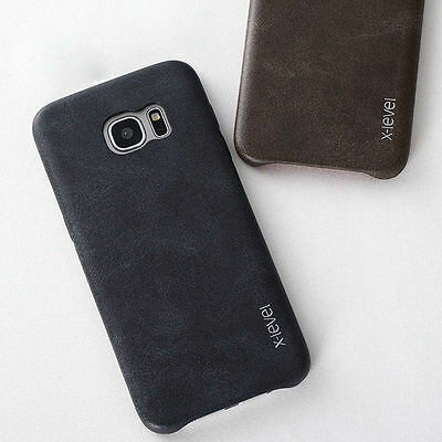 Genuine HandMade Ultra-thin Leather Hard Back Case Cover For iPhone & Samsung