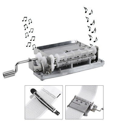 30 Note Tape Hand Crank Music Box Movement Part + Puncher+ 3 Strips DIY Crafts