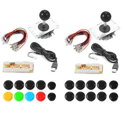Zero Delay Arcade Game USB Joystick + Buttons Parts for MAME Raspberry Pi 1/2/3