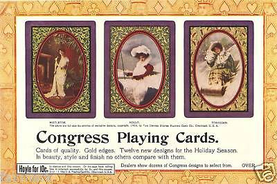 Congress Playing Cards               Advertising Page              December 1903
