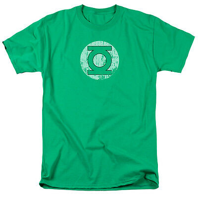 GREEN LANTERN LOGO Distressed Vintage Style Adult T-Shirt All Sizes
