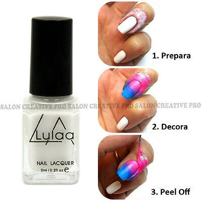 Barrera cinta LATEX liquido para decoracion de uñas estampado PEEL OFF nail art