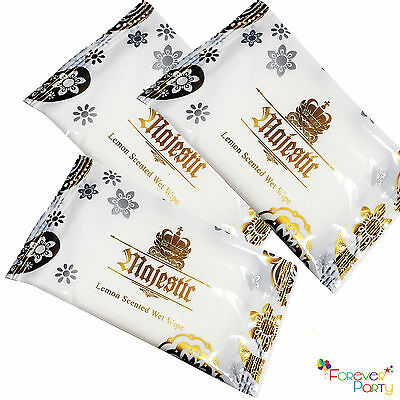Lemon Fresh Wet Hand Wipes Towels Hot Cold Individually Wrapped Restaurant Home