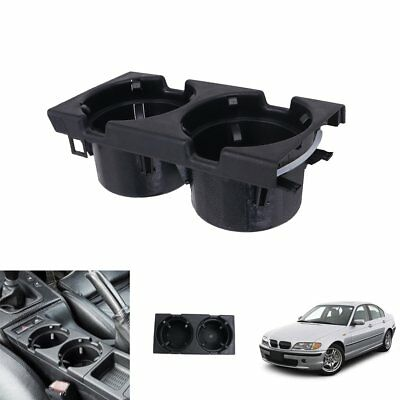 For BMW E46 320i 323i 325i 330i 98-06 Front Center Console Cup Holder Coin Box