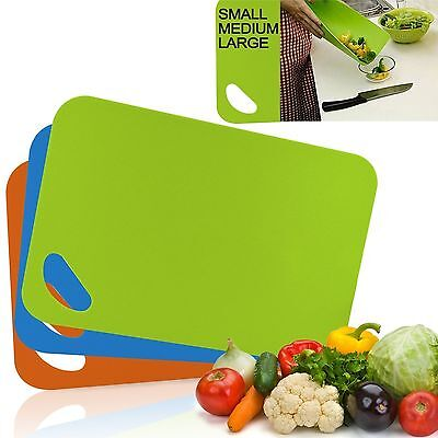 Chopping Board Plastic 3 Different Colours & Sizes To Choose  From Cutting Board