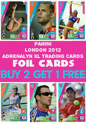 Panini Official London 2012 Olympics Adrenalyn Xl Foil Cards