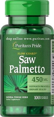 Puritans Pride Saw Palmetto 450mg X100 Capsules Prostate & Mens Health